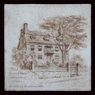 Antique Tile - Minton China Works,  Old Hancock Manor House,  Boston,  Ma photo
