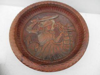 Fine Medieval Austrian Tiroler Innusbruck Carved Dragon Knight Amor Wooden Bowl photo