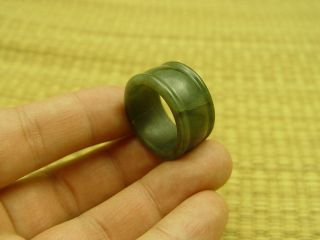 100% Natural A Jade Jadeite Green Round Circle Ring Usa 12 172932 photo
