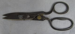 Antique Hibbard Spencer Bartlet Adjustable Sewing/cloth Scissors Germany photo