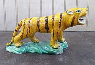 Handmade Shiwan Figure Tiger Ceramic Statue 4