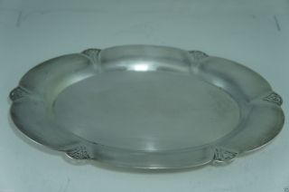 Vintage Silver Plate Oval Platter Plate Tray Pierced Rims Wm.  Rogers photo