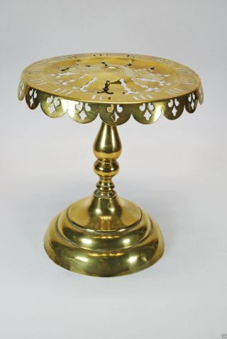 Victorian Reticulated Brass Footman,  Trivet Or Cake Stand,  English. photo
