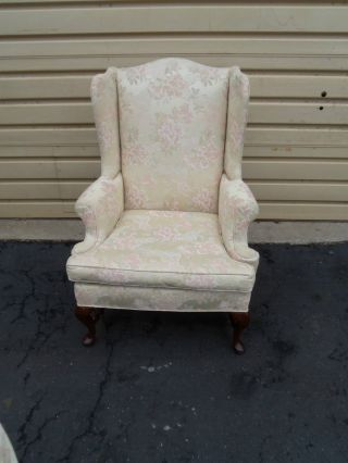 50203 Queen Anne Upholstered Fireside Wing Chair photo