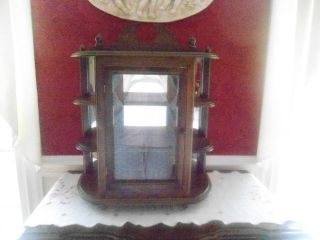 Gorgeous Cherry Hanging Or Standing Curio Cabinet Traditional photo
