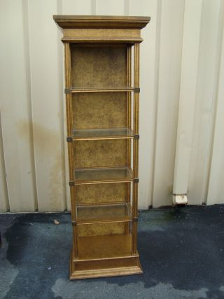 51291 Gold Modern Decorator Curio China Cabinet Bookcase Whatnot Shelf photo