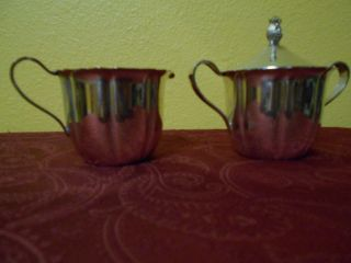 Wm Rogers Silver Plate Sugar Bowl Lid Creamer photo