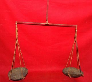 Antique Rare Old Gold Smith Gold & Silver Weight Measurement Balance Scale photo