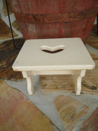 Early Child ' S Primitive Wood Foot Stool Bench photo