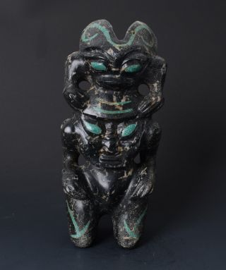 Chinese Hongshan Style Big Jade Handwork Carved Monster Totemism Statue - Jr10789 photo