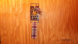 Primitive Hanging Towel Holder Old Cheese Grater (brown) photo