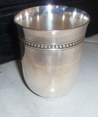 French Silver Plate Cup Tumbler photo