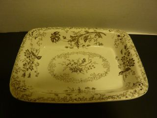 Antique 1800 ' S Pb&s Chelsea Victorian Fl English Transferware Ra2665 Rec Bowl photo