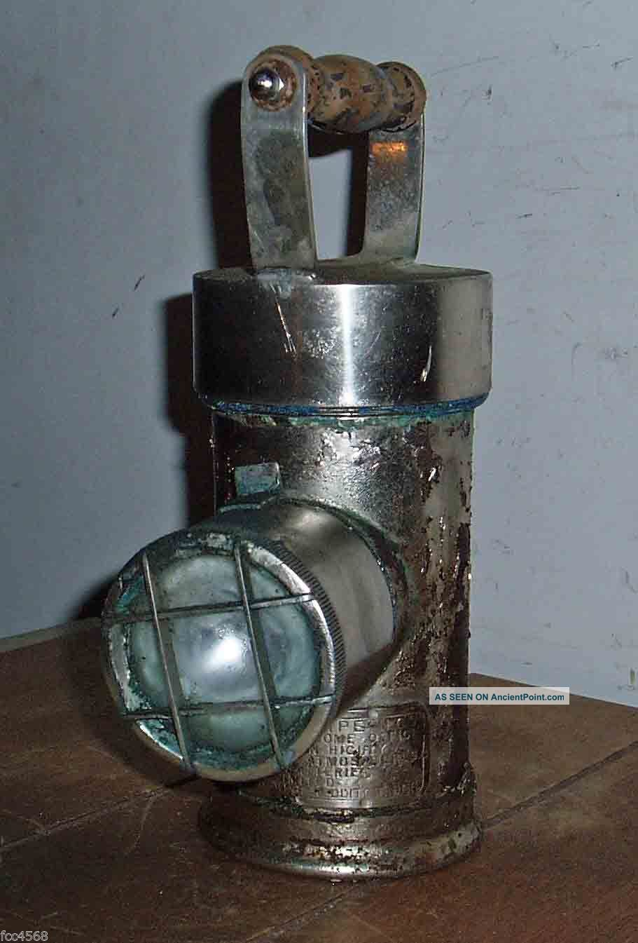 C1950 Nife Safety Lamp Approved By Hm Govenment For Use Highly Inflammable Areas Uncategorized photo