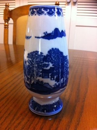 Qing Dynasty Chinese Blue And White Vase Signed photo