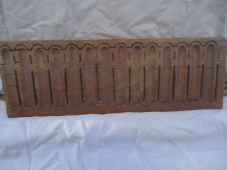 17th Century Small,  Carved Nulled Panel photo