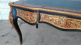 Ornate Louis Xv Benchmade Desk Black Lacquer Gold Gilding Red Bronze Ormolu Trim photo