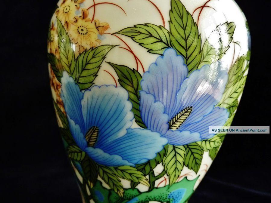 Delightful Vintage Porcelain Pare Mantel Vases Japan C 1940 ' S. Uncategorized photo