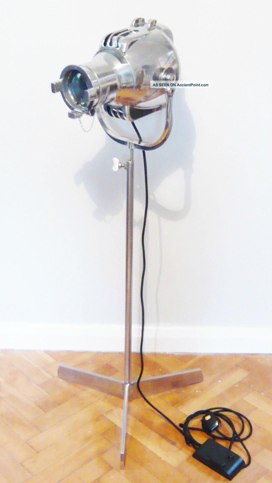 1950s Vintage Theatre Light Studio Floor Industrial Lamp Alessi Eames Bauhaus Uncategorized photo