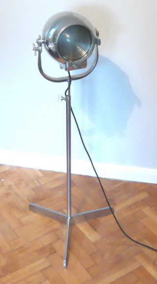 Vintage Theatre Light Studio Floor Industrial Antique Lamp Alessi Eames Starck photo