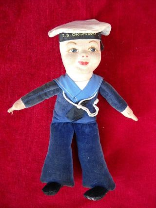 Vintage Norah Wellings Cloth S.  S.  Oransay Sailor Doll C.  1930s photo