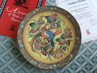 Golden Melody,  Russian Tales Plate Porcelain By Rita Kultyshova photo