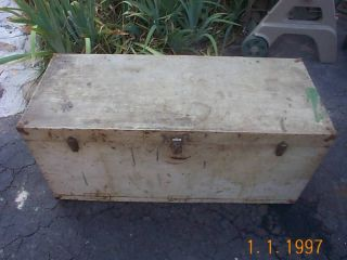 Vtg Primative Tool Trunk Drawer Coffee Table Industrial photo