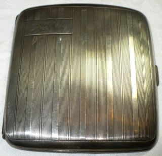 Antique Birks Sterling Silver Cigarette Case photo