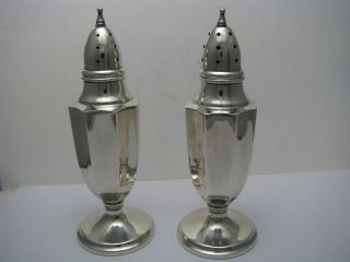 Sterling Silver Salt & Pepper Shakers By Mueck - Carey Ca1940s photo