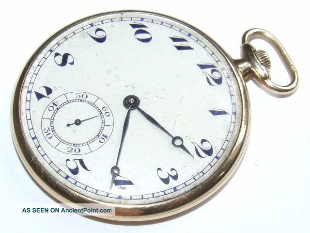 Very Rare Solid 18k Gold Stauffer Son & Co Art Deco Pocket Watch Uncategorized photo