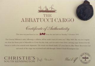 Abbatucci Shipwreck Cargo Solid Silver Pocket Watch C1869 photo