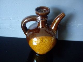 Antique Islamic Ottoman Glazed Pottery Pitcher Jug photo