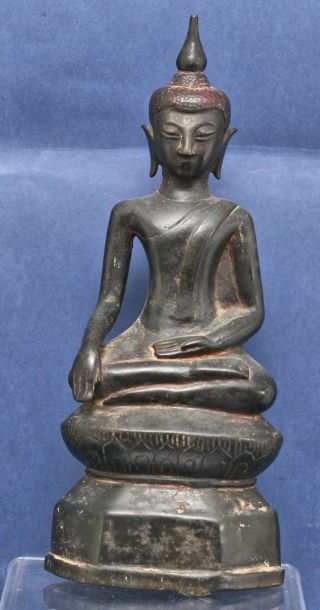 Magnificient Rare 16th Century Burmese Shan State Bronze Buddha Antique photo