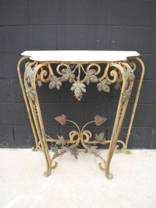 Antique Italian Hand Forged Iron Console Table photo