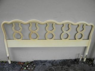 French King Size Painted Headboard photo