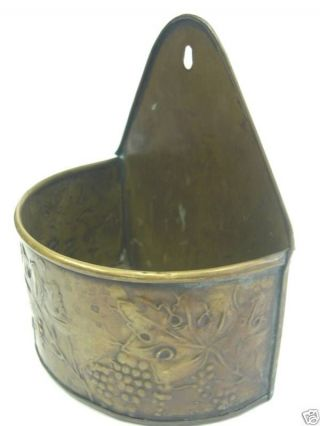 Antique Brass Candle Box,  Fine Design Embossed photo