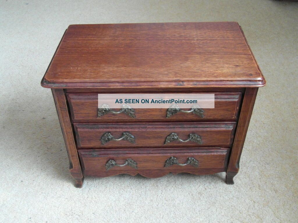 Rare French Antique Wooden Miniature Chest Of Drawers 3 - Pier & Monik Victorian (1837-1901) photo