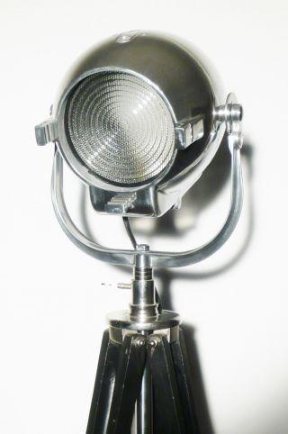 Vintage Theatre Film Light Industrial Mid Century Antique Steampunk Floor Lamp photo