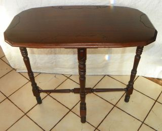 Walnut Carved Sofa Table Entry Table photo
