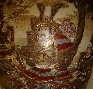 Large Figural Antique Japanese Satsuma Vase photo