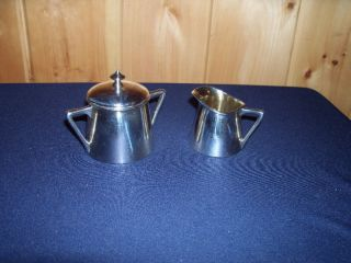 Vintage Silverplate Pairpoint Sugar Creamer 146 Euc photo