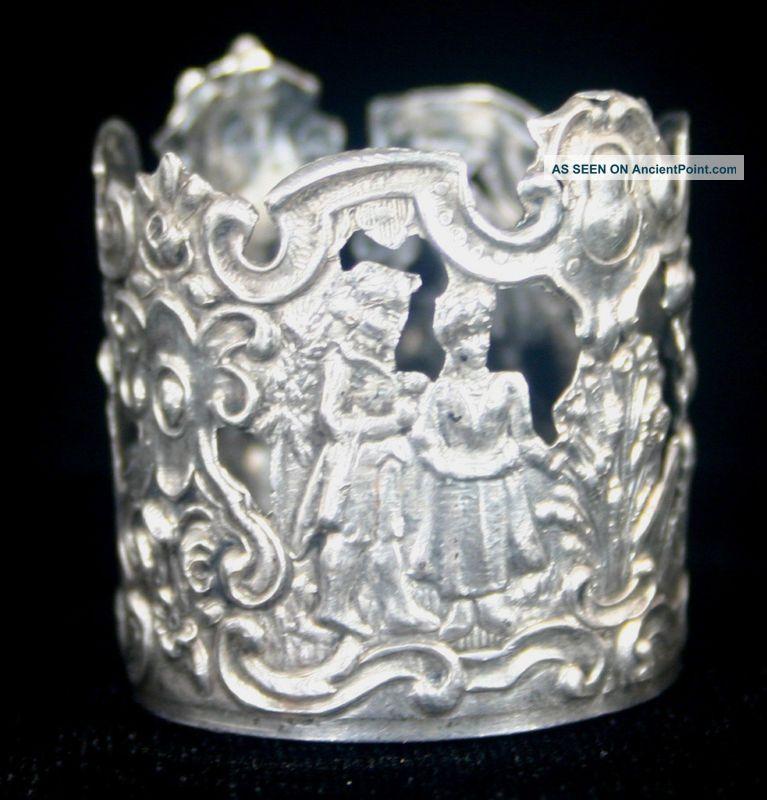 Hanau Silver Decanter Collar Storck & Sinsheimer Bottles, Decanters & Flasks photo