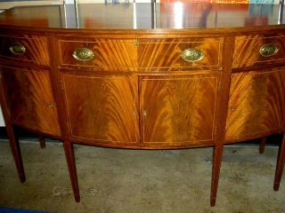 Fine Mahogany Antique Federal Inlaid Sideboard Shrewsbury Museum Collection photo