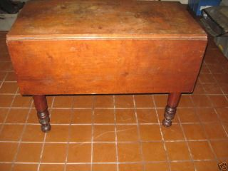 Antique Cherry Sheraton Drop Leaf - Great Turned Legs & Patina photo