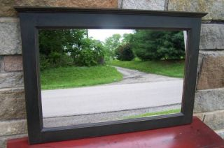 Primitive Handcrafted Black Country Cottage Mirror / Hz photo