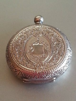 Antique Ward & Sons,  Swiss Made Baume & Co.  0.  935 Silver Fob/pocket Watch photo