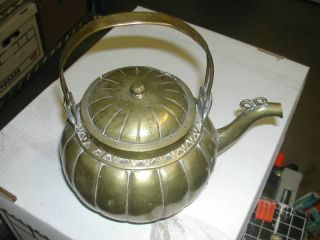 Vintage Chinese Brass Teapot photo
