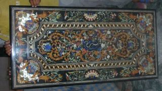 Micromosaic Pietra Dura Roman Sea Fish Coffee Table Top photo