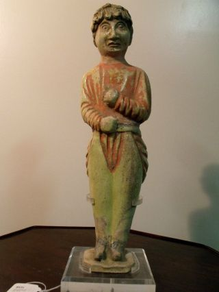 Ancient Chinese Tomb Figure.  Southeast Asian Dancer,  7th - 8th Century,  29 Cm Ht, photo