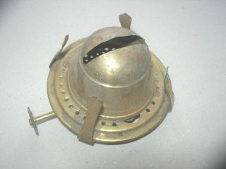 Vintage English All Brass Oil Lamp Burner To Take Chimneys 2.  1/8